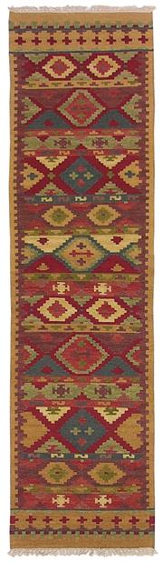 Sale 8725C - Lot 6 - An Indian Flatweave Runner, Hand-knotted Wool, 305x80cm, RRP $950