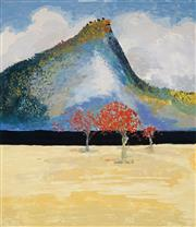 Sale 8938 - Lot 528 - Arthur Boyd (1920 - 1999) - Flame Trees and Pulpit Rock 80 x 65 cm