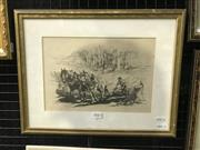 Sale 8990 - Lot 2043 - Russom Ploughing a Field, lithograph, Frame: 33 x 42 cm, 30  50 cm