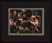 Sale 9023H - Lot 76 - DAVID APSDEN, Sea creatures  Oil on rag board 1993 details verso 28x38cm (frame size 52x63cm)  Provenance; purchased from K