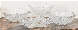 Sale 9120K - Lot 75 - A group of four tulip form glass bowls, Height of largest 18cm.