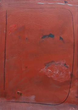 Sale 9257A - Lot 5006 - CLIVE MOORE Red, 1977 oil on board 81 x 56 cm unsigned