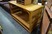 Sale 8499 - Lot 1077 - Cane Tiered Cabinet