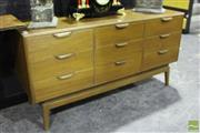 Sale 8499 - Lot 1003 - Retro Chest of Nine Drawers