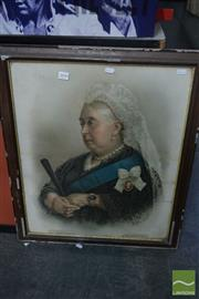 Sale 8537 - Lot 2096 - Early Framed Chromolithograph of Queen Victoria -