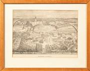 Sale 8653A - Lot 5 - A group lot of four works including an engraving of Melbourne University, an early photograph of Melbourne University, etching title...