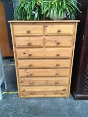 Sale 8782 - Lot 1348 - Pine Chest Of Nine Drawers