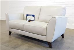 Sale 9174 - Lot 1120 - Two seater leather lounge (h85 x w150 xd90cm)