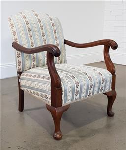 Sale 9210 - Lot 1040 - Early timber armchair (h:82 w:58 d:72cm)