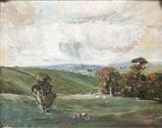 Sale 8665 - Lot 599 - Albert Ernest Newbury (1891 - 1941) - Country Landscape, 1915 31 x 36cm