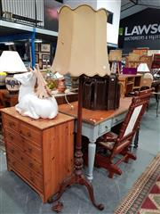Sale 8843 - Lot 1092 - Fluted Timber Floor Lamp