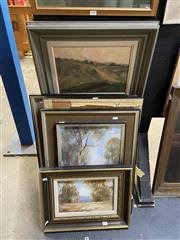 Sale 8878 - Lot 2078 - Pauline Washington (5 works) - Country Scenes framed, various sizes