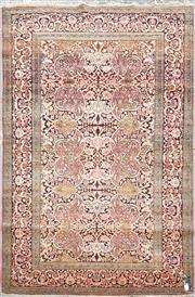 Sale 8882 - Lot 1083 - Isfahan Wool Carpet, with floral intersecting arabesques & boteh motifs, the border with cloud like scroll & lotus (203 x 137cm)