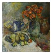 Sale 8888H - Lot 53 - Rene Clarot (1882 - 1972) Belgium - Still Life  oil on canvas signed 65 x 64cm