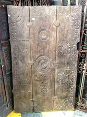 Sale 8013 - Lot 1471 - Antique Indian Carved Timber Panel
