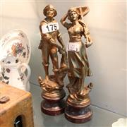 Sale 8351 - Lot 72 - Spelter Figures