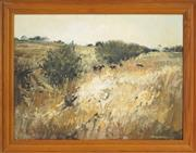 Sale 8443 - Lot 587 - Patrick Carroll (1949 - ) - Morning Pastoral, Gundaroo 44.5 x 60cm
