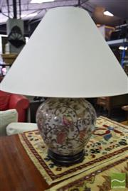 Sale 8532 - Lot 1360 - Pair of Royal Satsuma Style Hand Painted Table Lamps (4104)