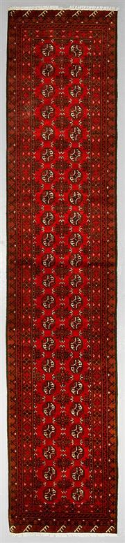 Sale 8539C - Lot 84 - Afghan Turkman Runner 380cm x 82cm