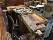Sale 8643 - Lot 1150 - Vintage Swedish Work Bench with Vice