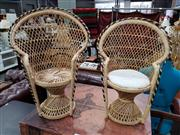 Sale 8843 - Lot 1013 - Pair of  Dolls Peacock Chairs