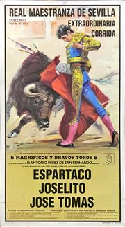 Sale 8945 - Lot 2068 - Spanish Bullfighting Poster (mounted on board) 96.5 x 53cm,