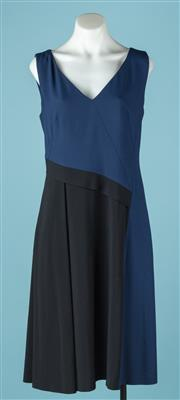 Sale 9027F - Lot 95 - A Hugo Boss navy and black sleeveless dress. Unworn. UK size 10