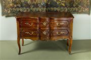 Sale 9087H - Lot 41 - A fine vintage French provincial style (possibly fruitwood)  2 drawer commode - 77 T x 110 x 55