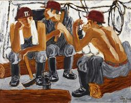 Sale 9118A - Lot 5048 - Van Tho - Mine Workers, 1998 84 x 108 cm