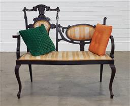 Sale 9210 - Lot 1044 - Edwardian settee - some repairs
