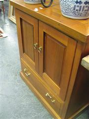 Sale 7974A - Lot 1052 - Timber 2 Door Cabinet with Drawer Below