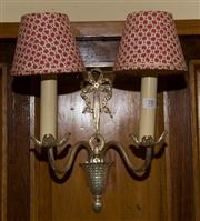 Sale 7981B - Lot 78 - Pair of two branch wall sconces. Must be removed by licensed electrician