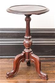 Sale 8222 - Lot 84 - A timber reproduction wine table, on triform base, H 68 Film Provenance; Moulin Rouge, 2001
