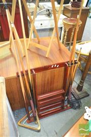 Sale 8272 - Lot 1088 - Pool Cue Stand w Cues