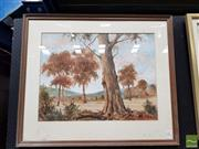 Sale 8495 - Lot 2037 - William Clarke - Australia Country Scene 48x63cm
