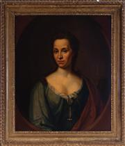 Sale 8994H - Lot 16 - Constantyn, Rene Auguste (c.1685 - 1726) - Mary Clerembault, 1717 signed and dated middle right, (pair to Phillipe, lot 14)