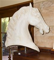 Sale 7981B - Lot 82 - Composite horse head sculpture on stand