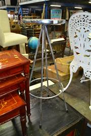 Sale 8115 - Lot 1043 - Pair of Stainless Steel Stools