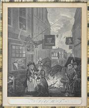 Sale 8188A - Lot 58 - William Hogarth (1697 - 1764) (5 works) - Morning, Afternoon, Evening, Night & Another (4) 43 x 36cm & (1) 39 x 50cm