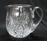 Sale 8298 - Lot 70 - A 1940's English Brierley hand cut lead crystal jug. Ht: 15cm
