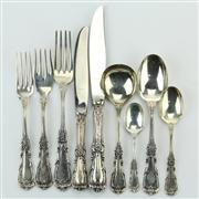 Sale 8387 - Lot 99 - Peruvian Sterling Silver Imperial Cutlery Setting