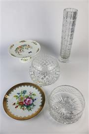 Sale 8429 - Lot 16 - Aynsley Cake Stand with Other Wares incl Cut Crystal