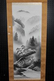 Sale 8445 - Lot 88 - Chinese Landscape Scroll
