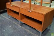 Sale 8566 - Lot 1548 - Pair of Modern Bedside Cabinets