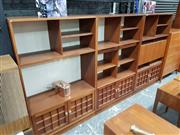 Sale 8765 - Lot 1025 - Set of 3 Younger Teak Bookcases