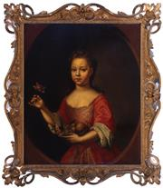 Sale 8994H - Lot 12 - Constantyn, Rene Auguste (c.1685 - 1726) - Marie Clerembault, 1717 signed and dated middle right (Pair with Nicholas, lot 11)