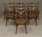 Sale 7968B - Lot 60 - A Set of Eight Cross Back  Dining Chairs