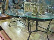 Sale 7974A - Lot 1045 - Glass Top Coffee Table w Matching Side Table