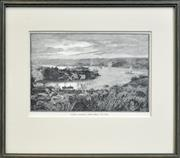 Sale 8330A - Lot 89 - W. Hatherell - Sydney Harbour, From Bellevue Hill 13 x 21cm