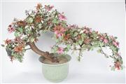 Sale 8381B - Lot 79 - Chinese Stone Lucky Peach Bonsai in Celadon Planter